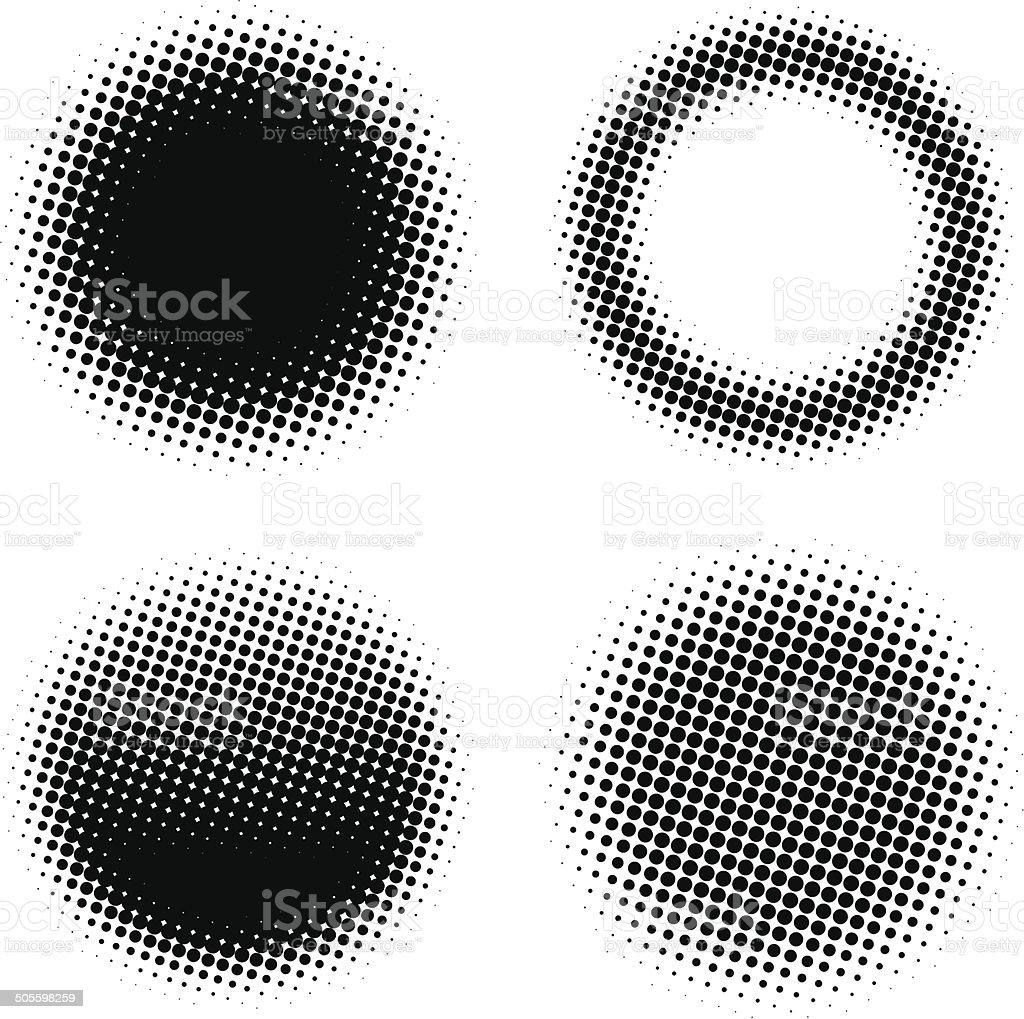 Circle design elements vector art illustration