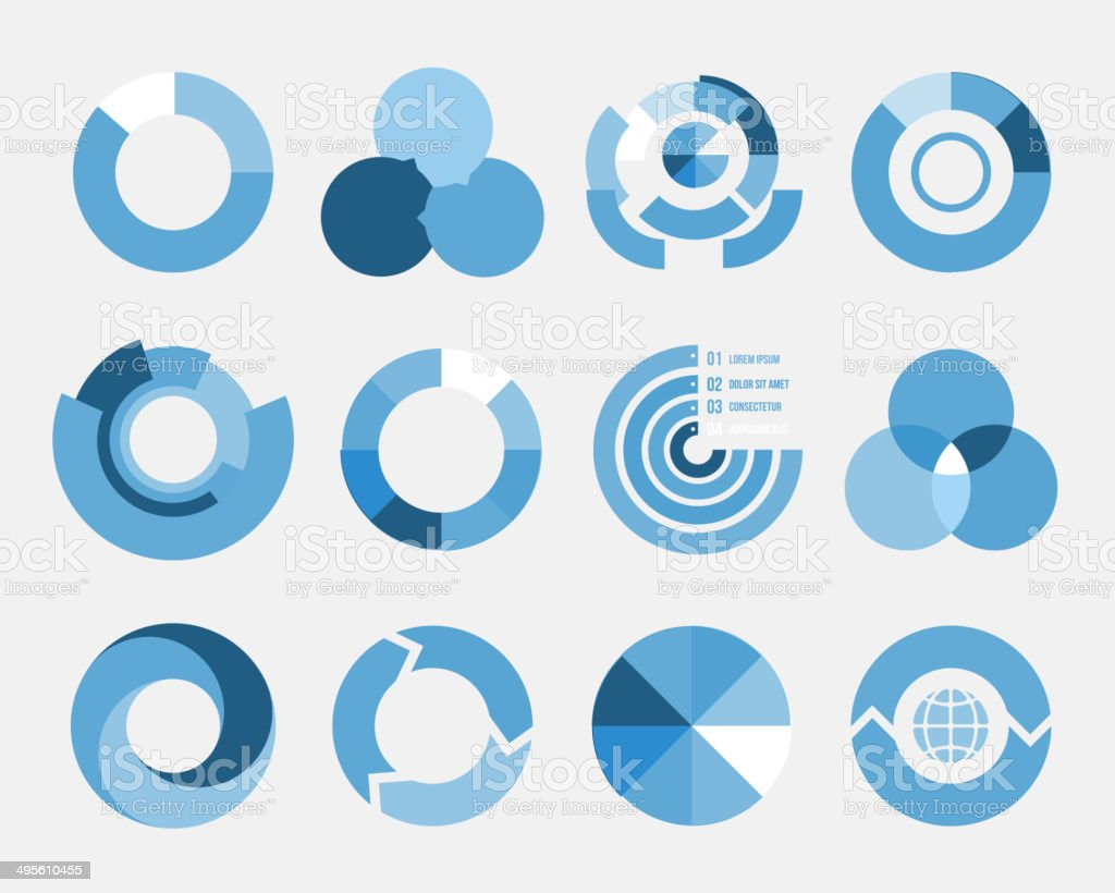 circle diagram elements vector art illustration