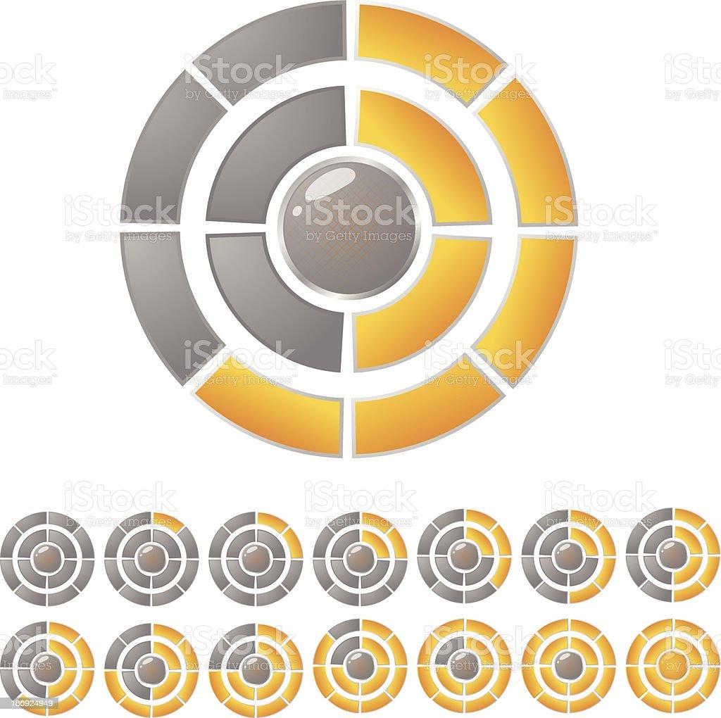 Circle download bar royalty-free stock vector art