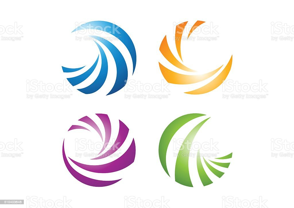 circle elements logo, sphere abstract elements symbol icon vector design vector art illustration