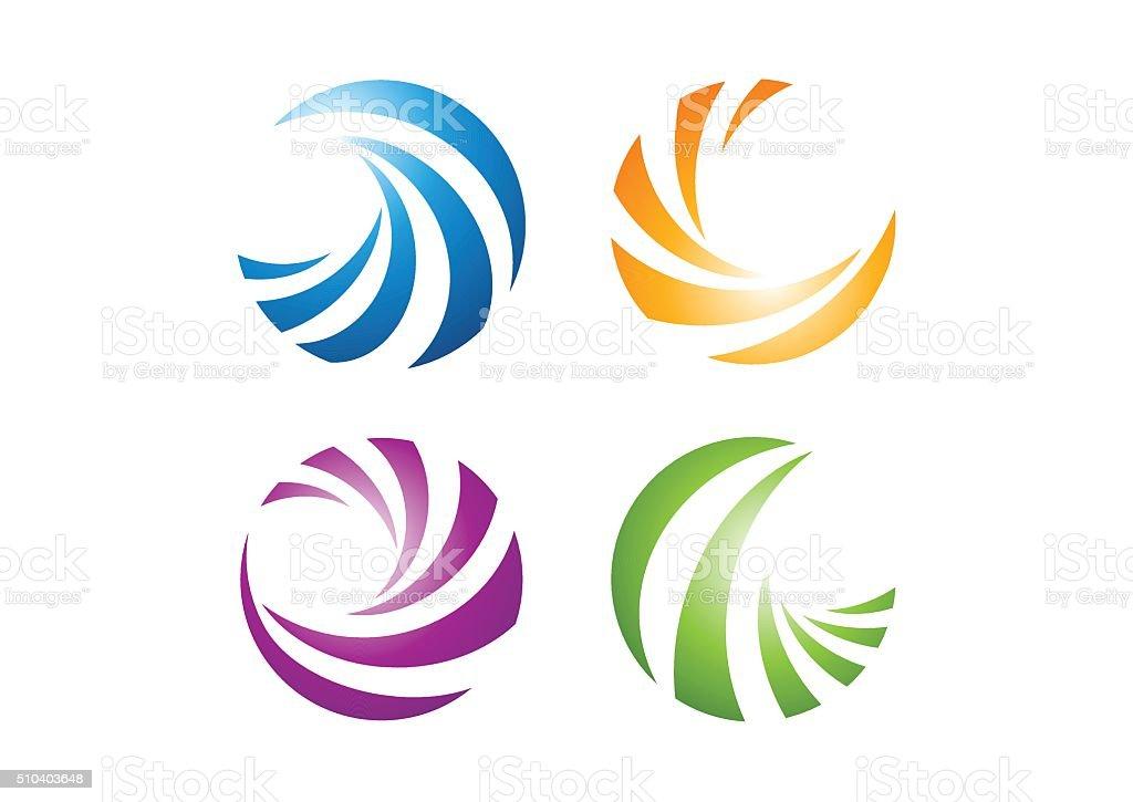 circle elements logo, sphere abstract elements symbol icon vector design vector art illustration