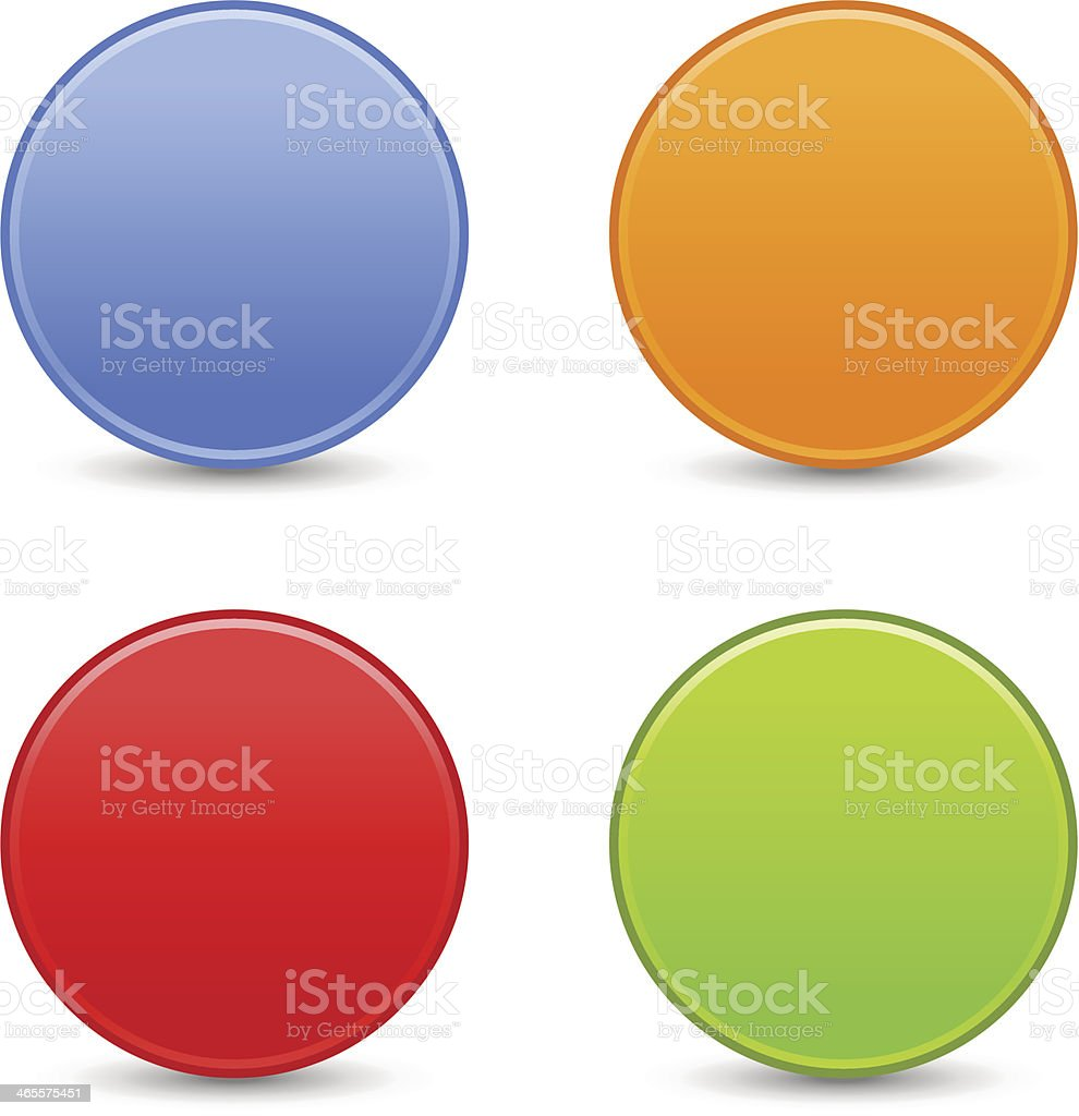 Circle empty icon blank blue orange red green web button royalty-free stock vector art