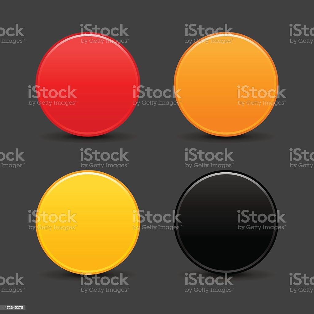Circle empty icon blank red orange yellow black internet button royalty-free stock vector art