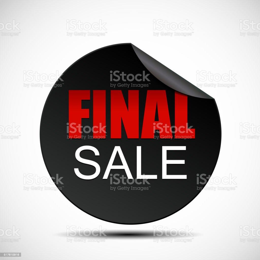 Circle Final Sale Label Vector Illustration vector art illustration
