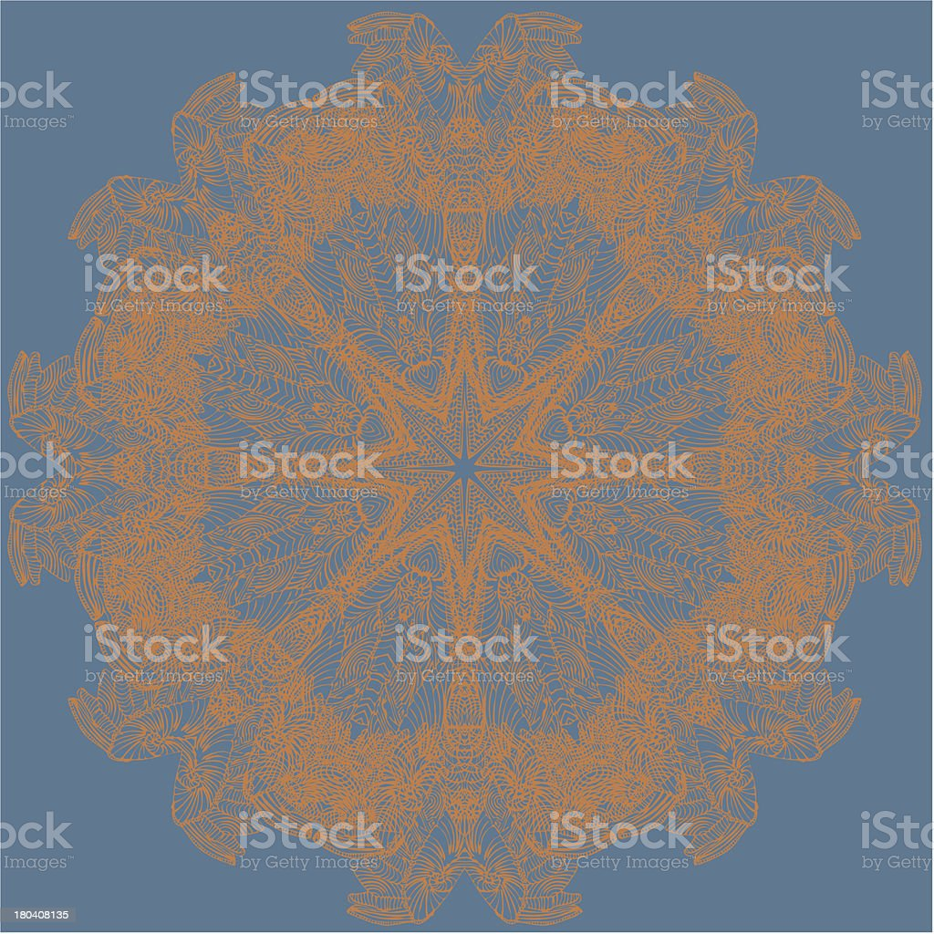 Circle floral ornament. royalty-free stock vector art