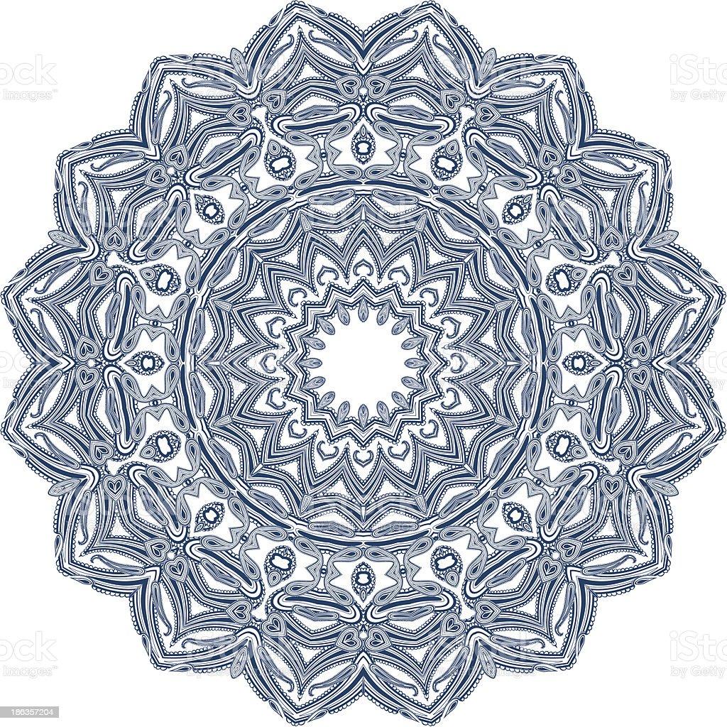 Circle floral ornament royalty-free stock vector art