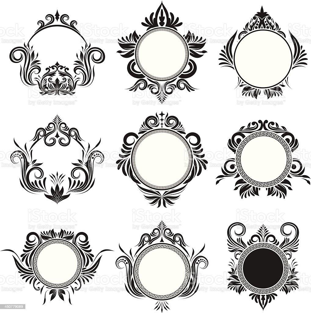Circle Frame Ornamental vector art illustration