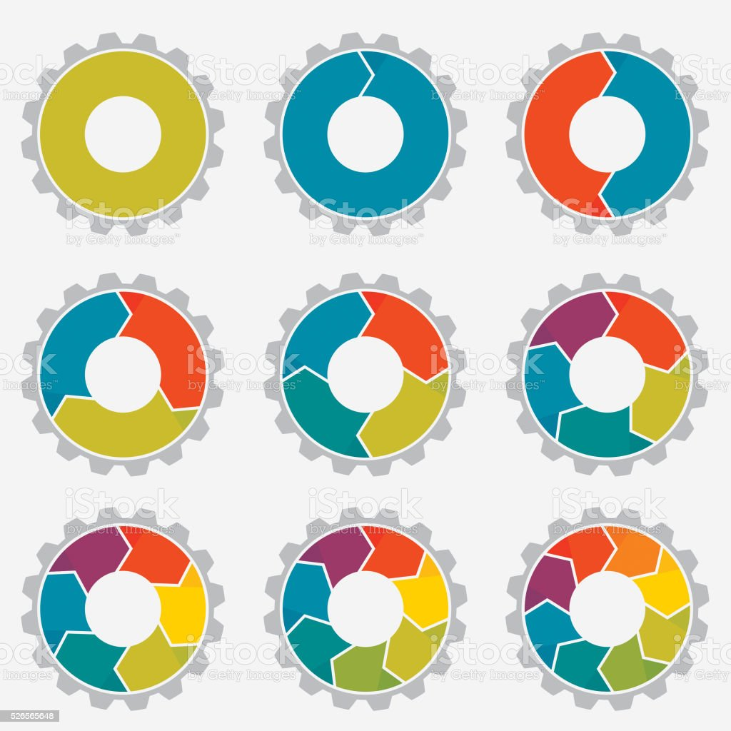 Circle Graphs vector art illustration