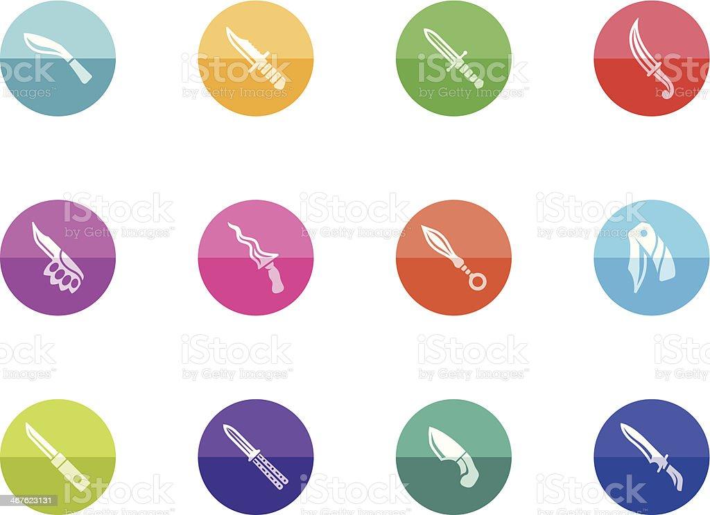 Circle Icons - Knives vector art illustration