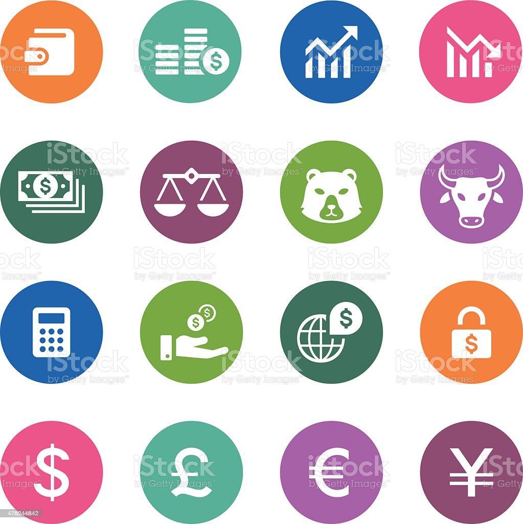 Circle Icons Series | Banking & Finance vector art illustration