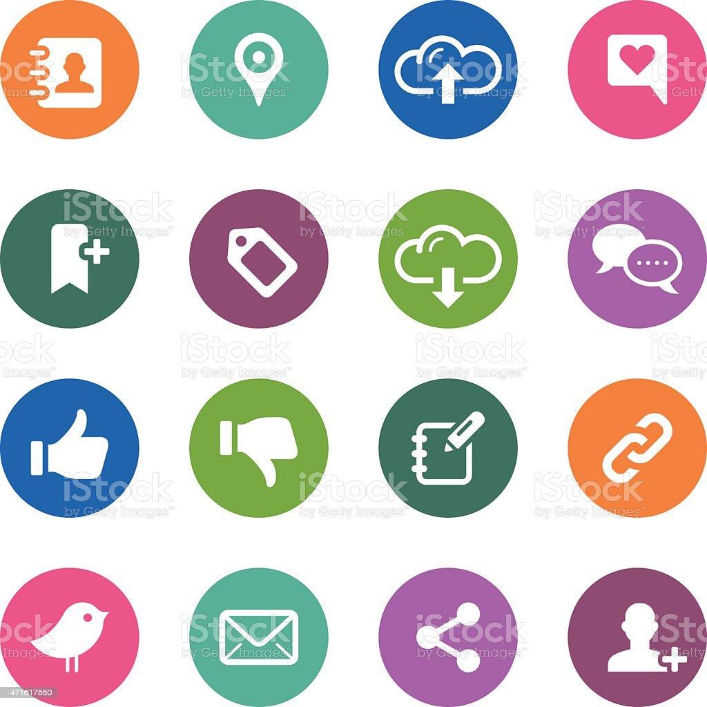 Circle Icons Series | Social Media vector art illustration