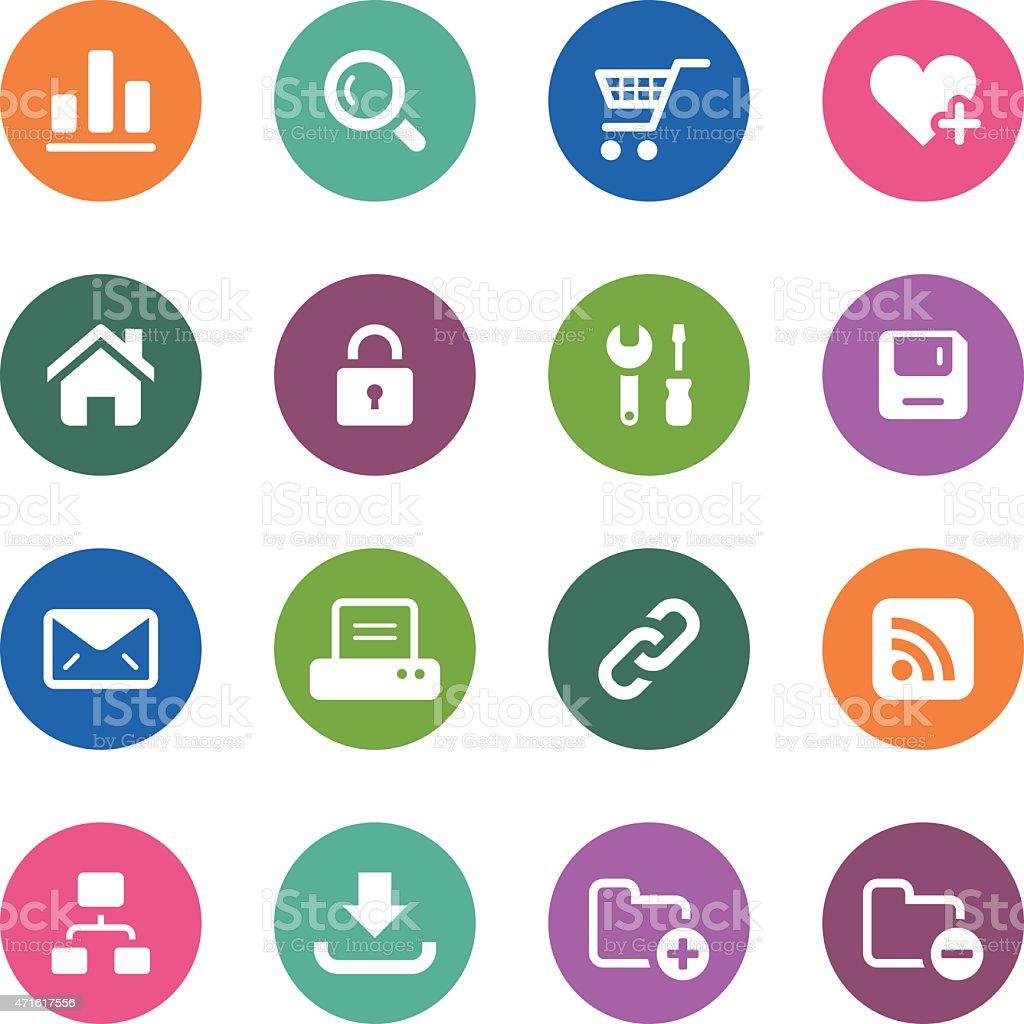 Circle Icons Series | Web & Internet vector art illustration