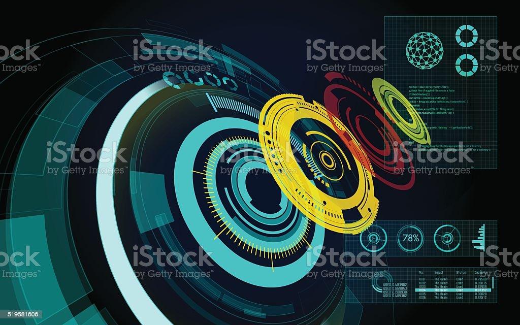 Circle in Depth vector art illustration