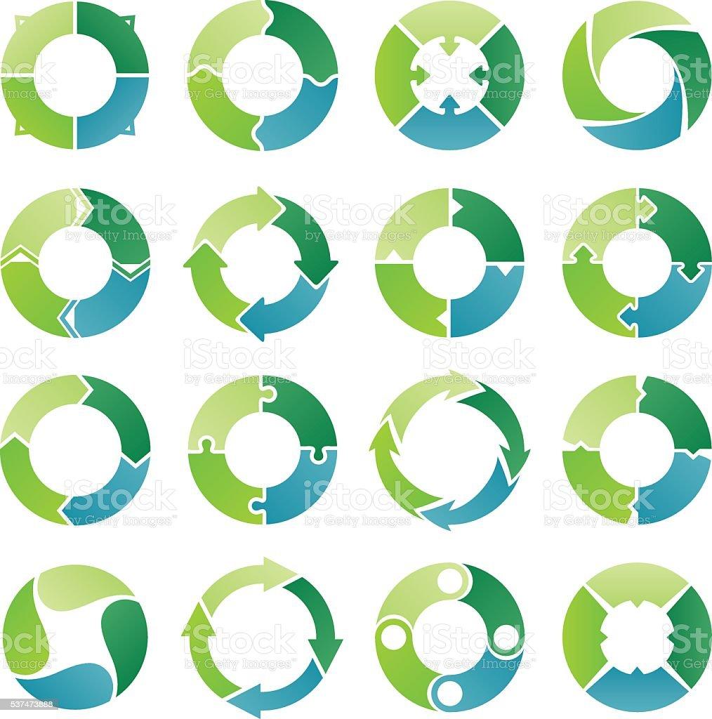Circle infographic. 4 steps vector art illustration