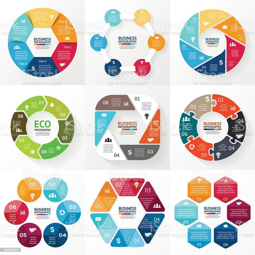 Circle infographic. Diagram, graph, presentation. vector art illustration