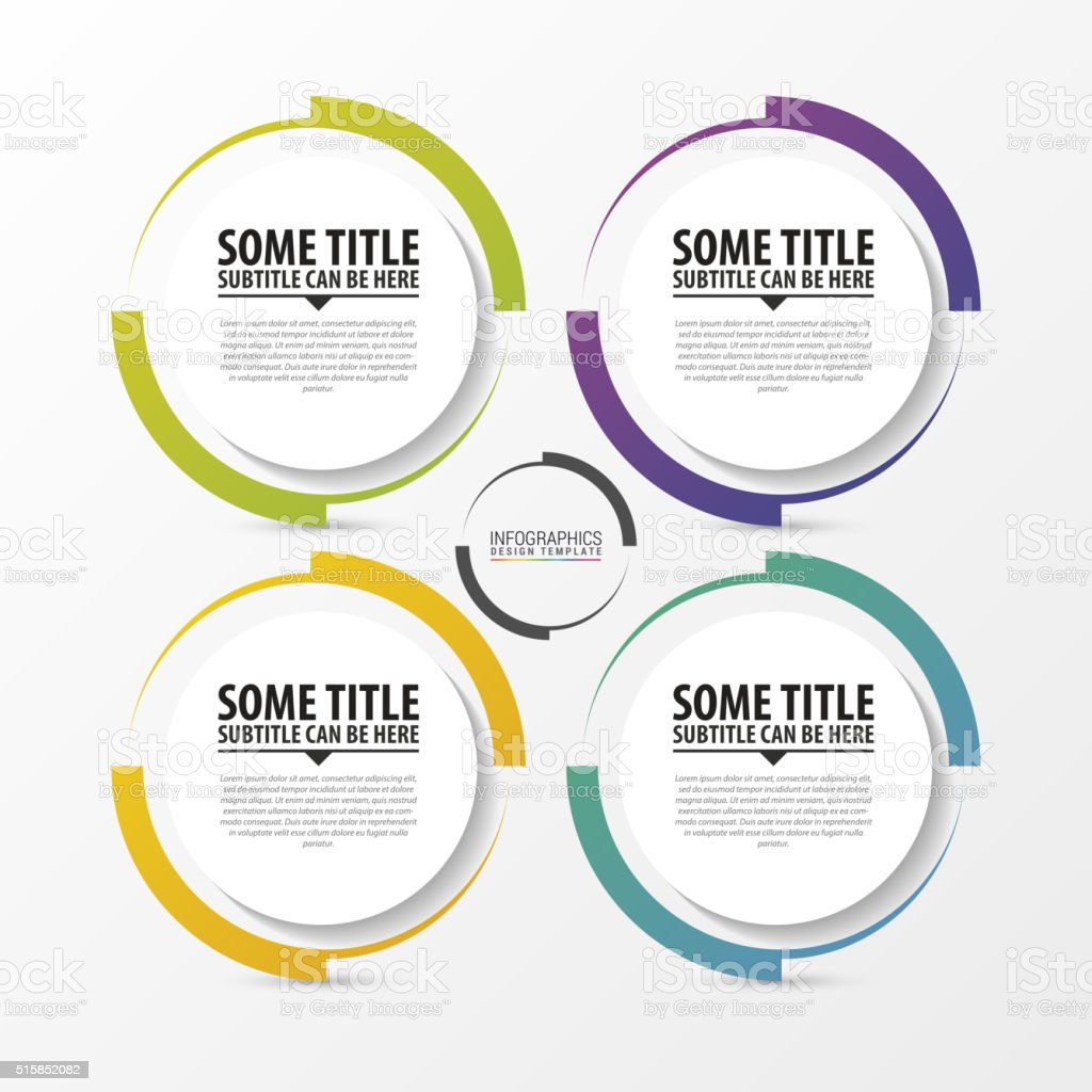 Circle infographic. Template for diagram. Vector vector art illustration