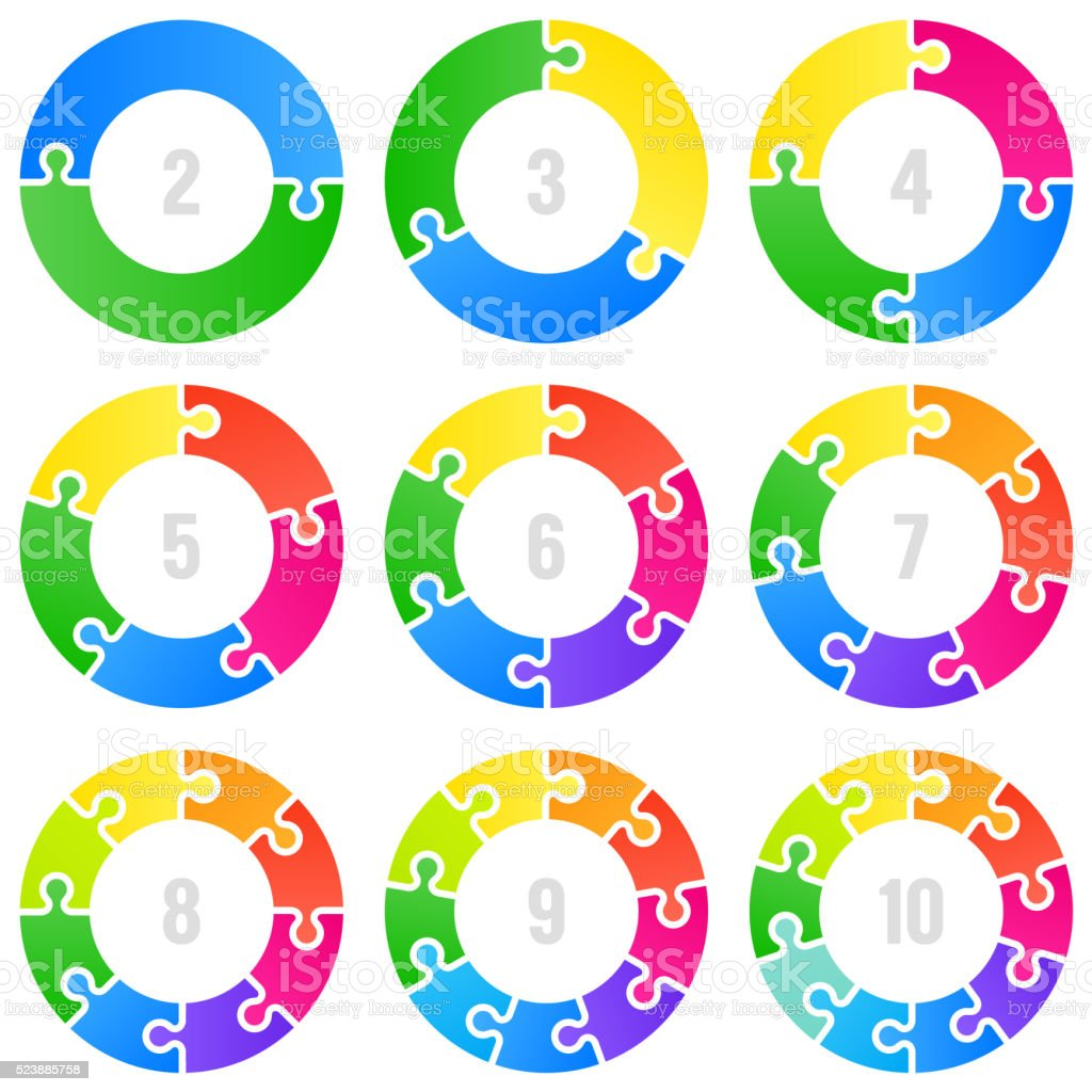 Circle infographic vector art illustration