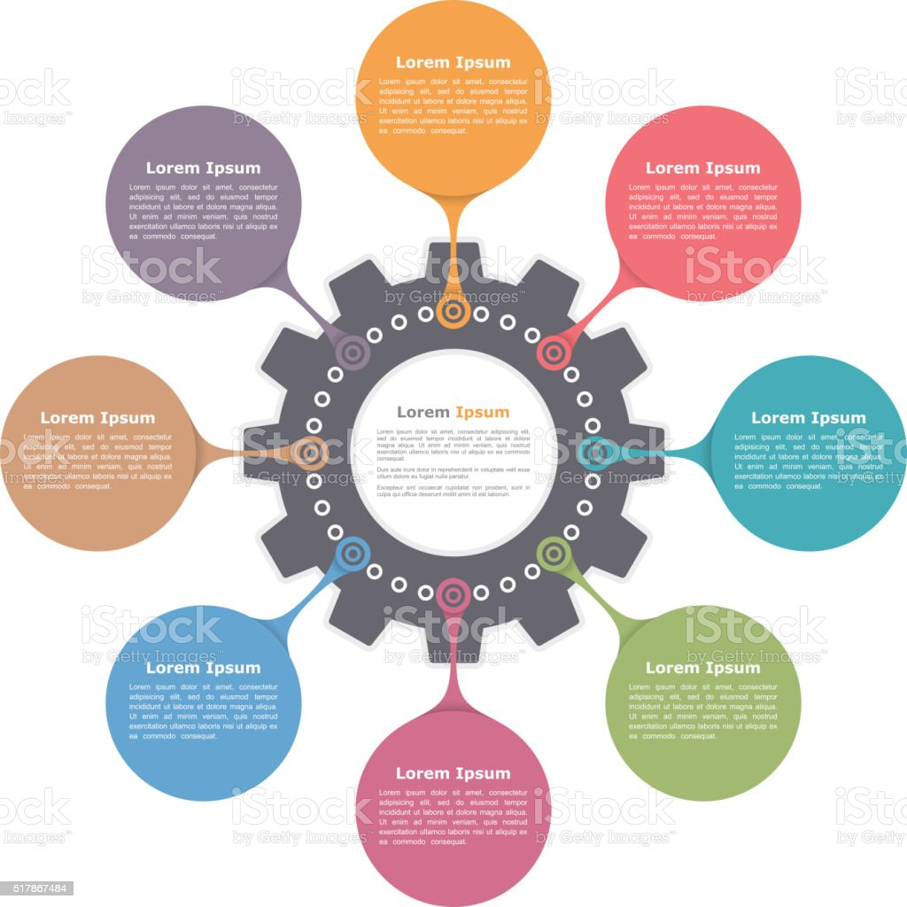 Circle Infographics vector art illustration