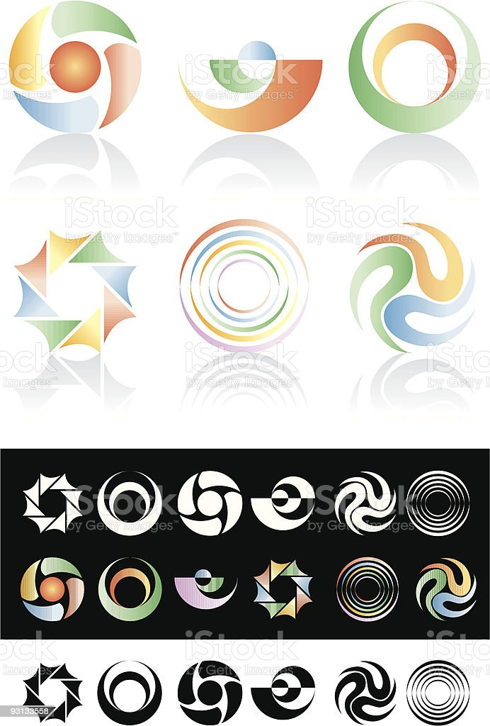 circle logos royalty-free stock vector art