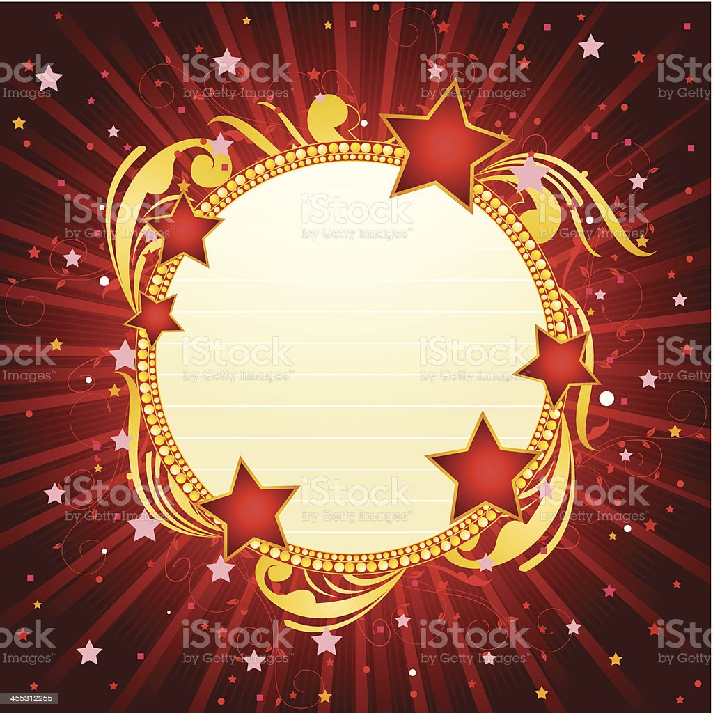 Circle Marquee Banner royalty-free stock vector art