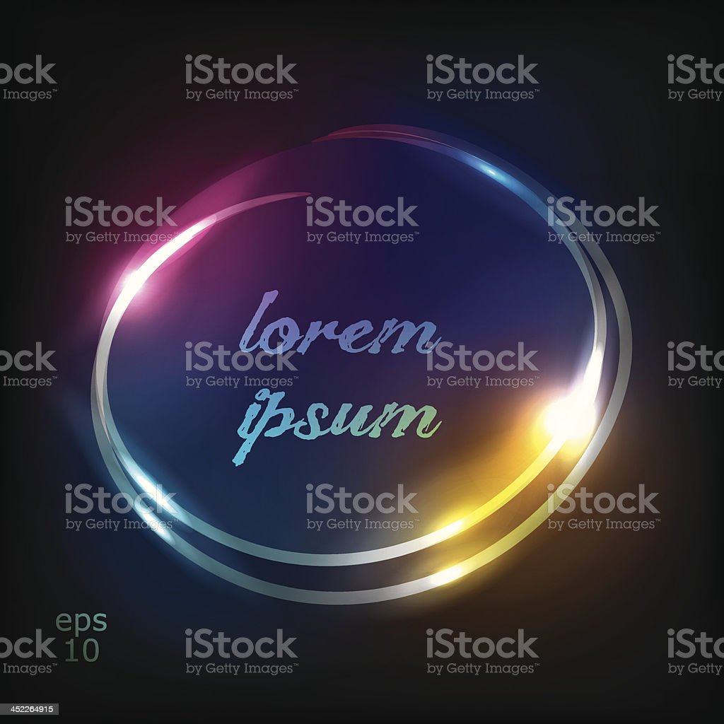circle neon background royalty-free stock vector art
