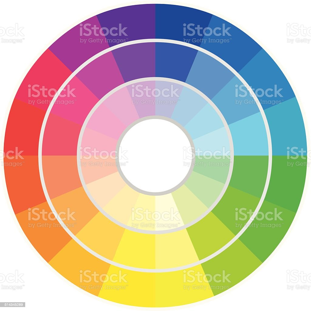 Circle of Colors vector art illustration
