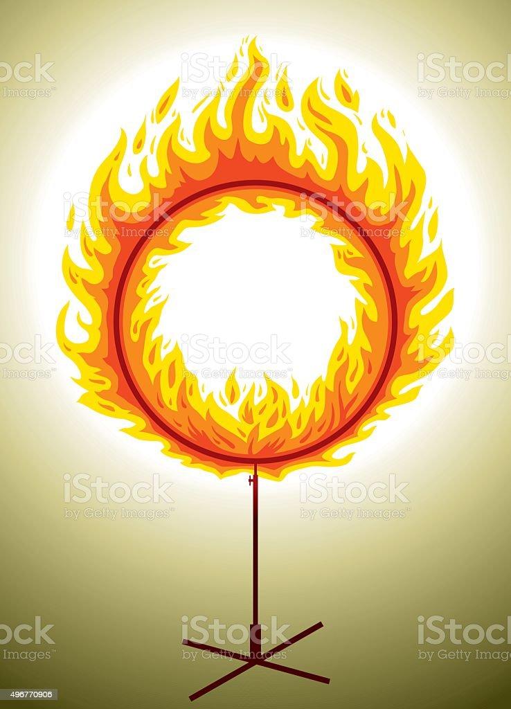 Circle Of Fire vector art illustration