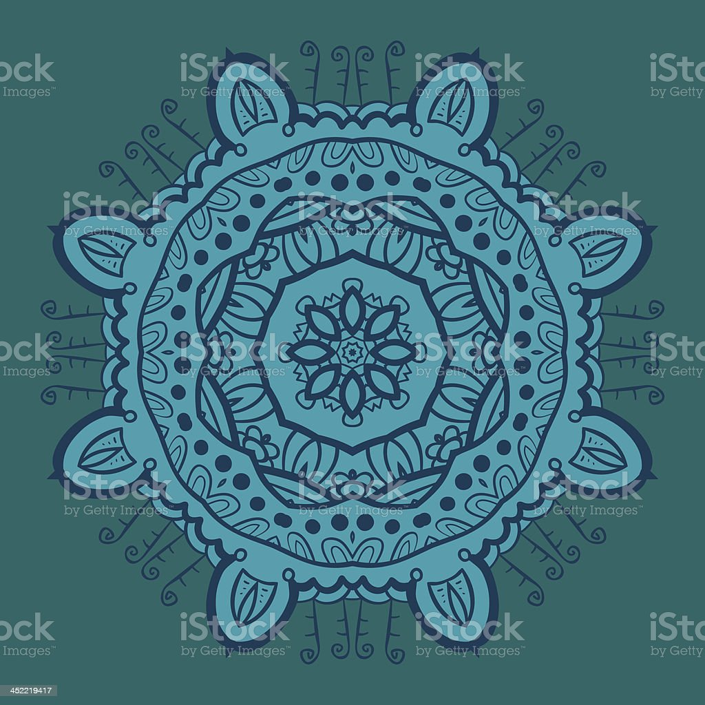 Circle ornament, ornamental round lace royalty-free stock vector art