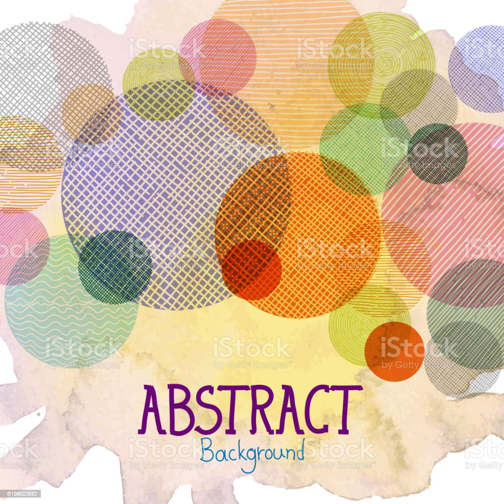 Circle pattern Abstract Background vector art illustration
