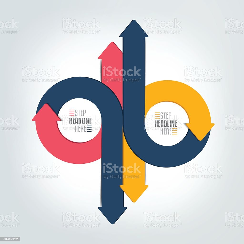 Circle, round  arrows infographic. Template, scheme, diagram, chart, graph, presentation. vector art illustration