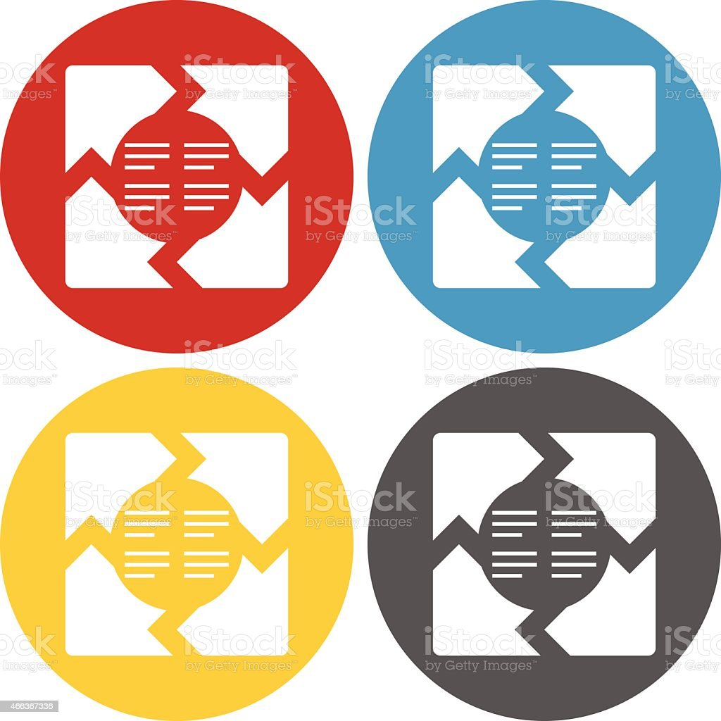 Circle Series Infographic icon vector art illustration
