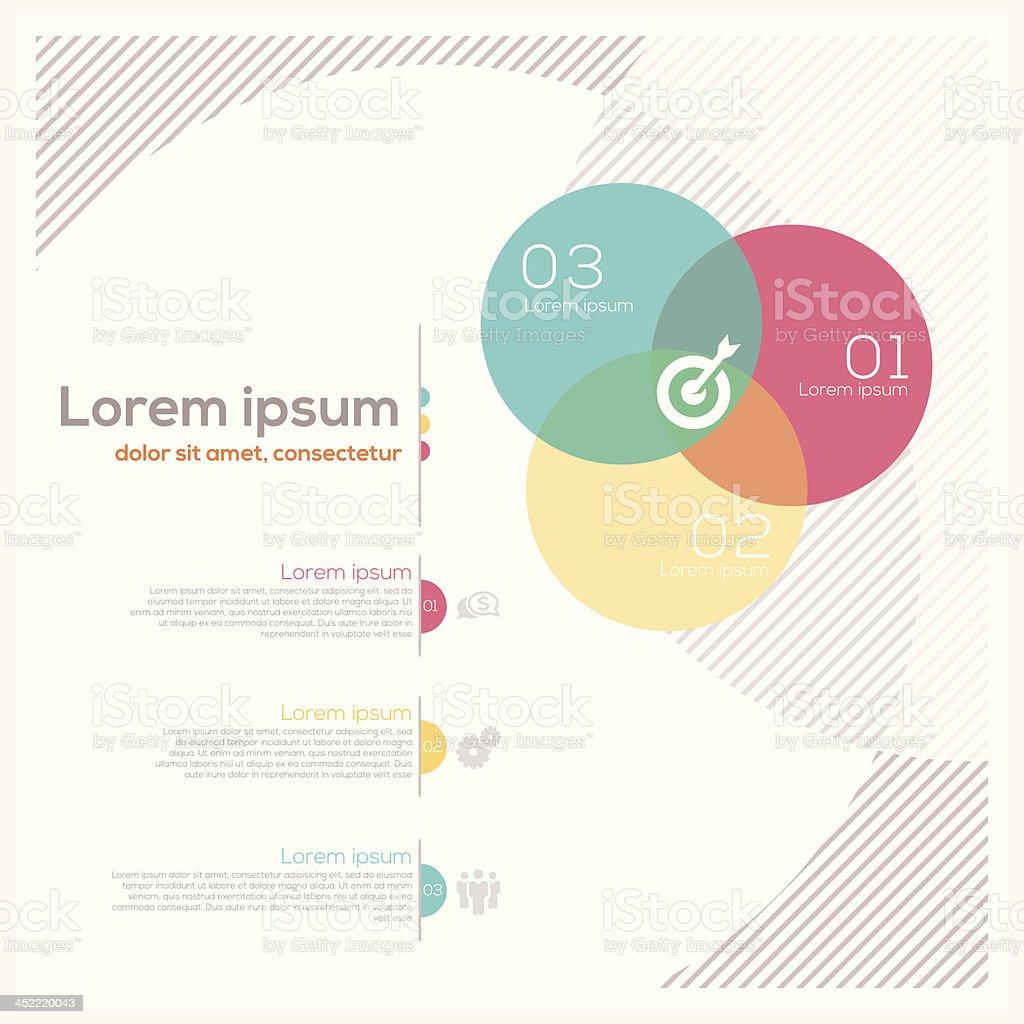 Circle Shape Abstract Design Layout royalty-free stock vector art