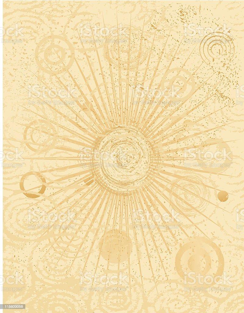 Circle Swirl Burst Grunge Background royalty-free stock vector art