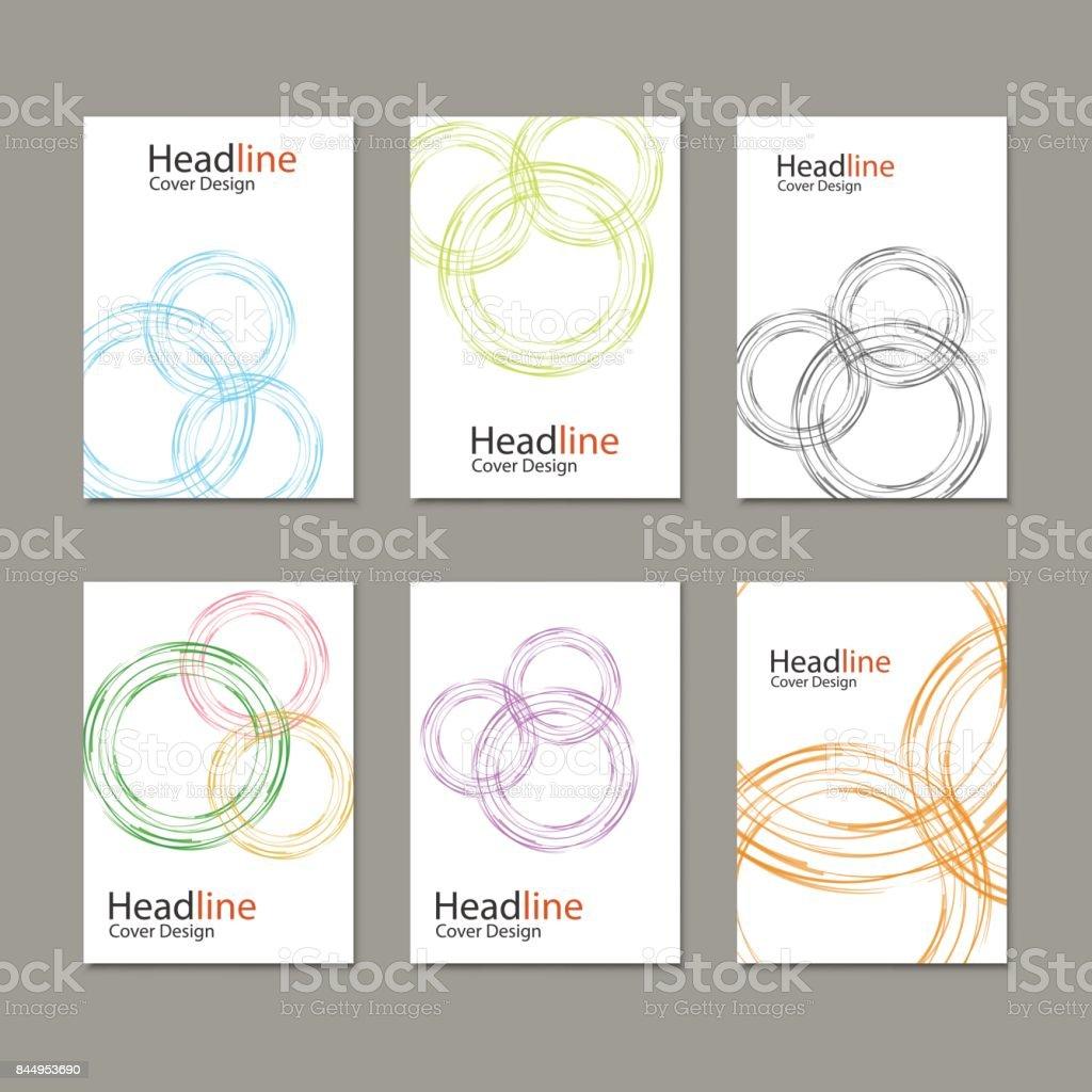 Book Report Brochure Template | Circle Vector Annual Report Brochure Flyer Template Design Book