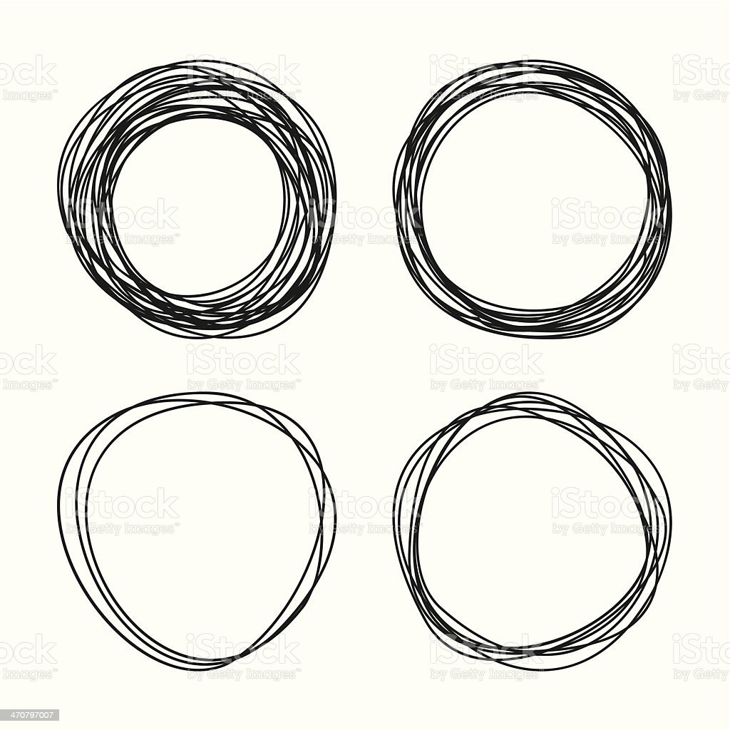 Circle vector art illustration