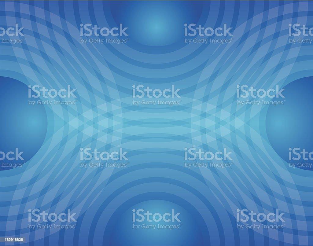 Circle Waves Blue vector art illustration