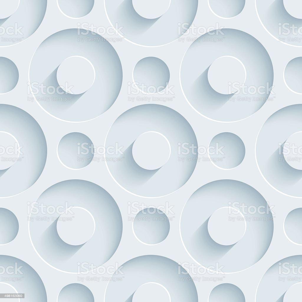 Circles 3D Seamless Wallpaper Pattern. vector art illustration