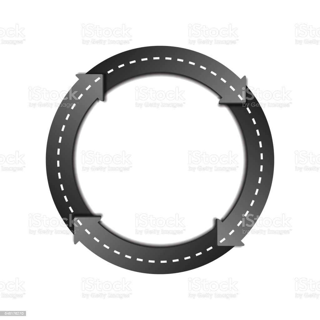 Circles Arrow Road vector art illustration