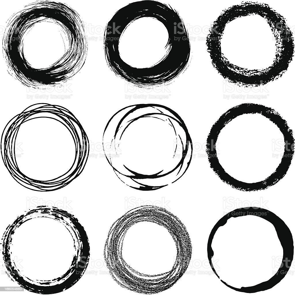 Circles design elements vector art illustration