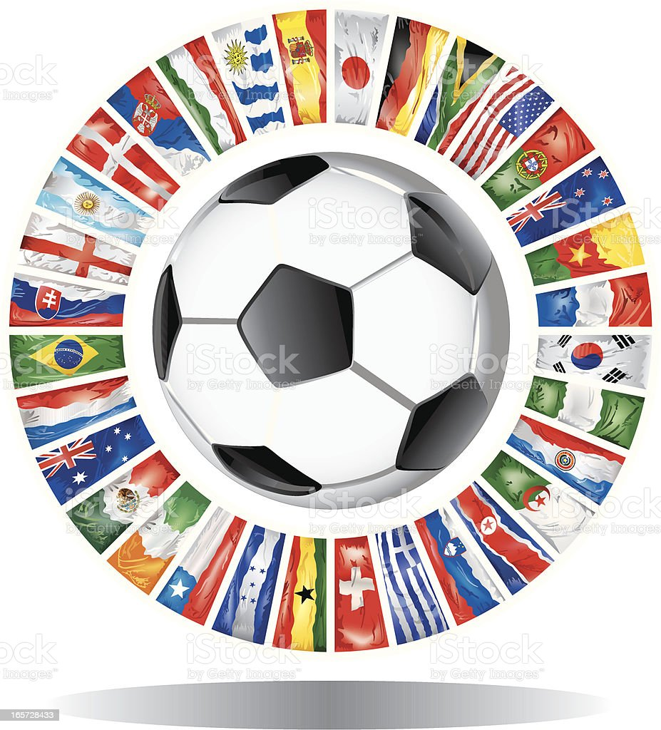 Circles with participants of world soccer championship 2010 royalty-free stock vector art