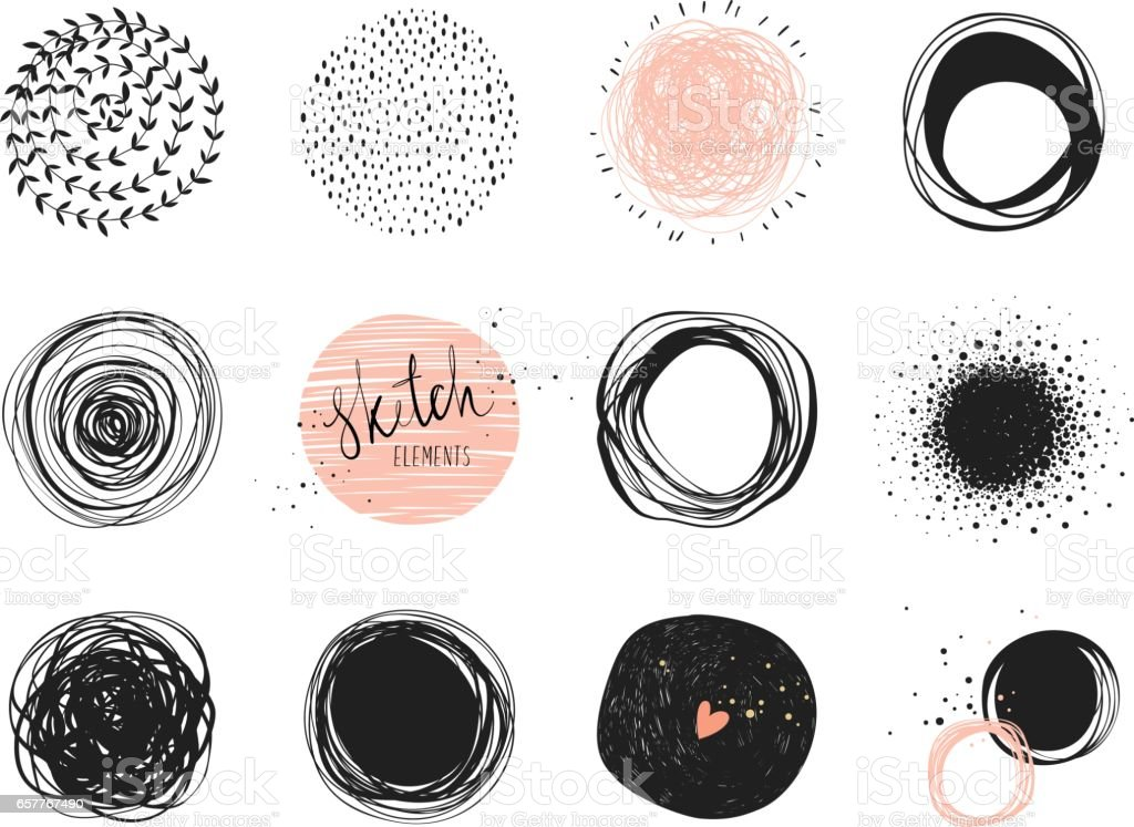 Circles_04 vector art illustration