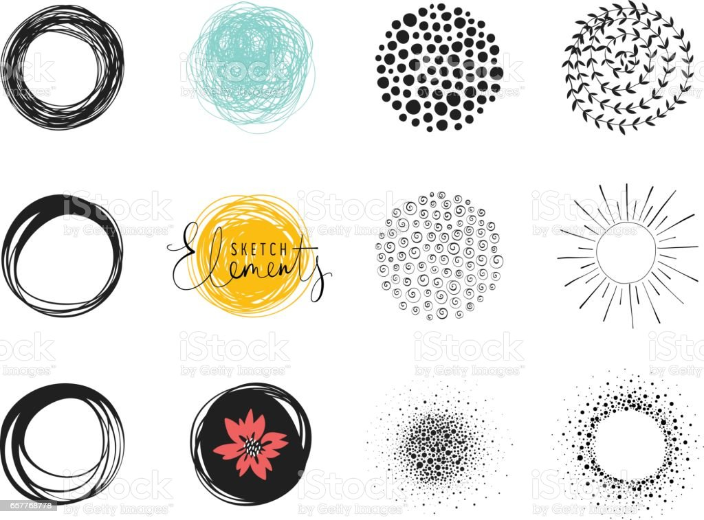 Circles_06 vector art illustration