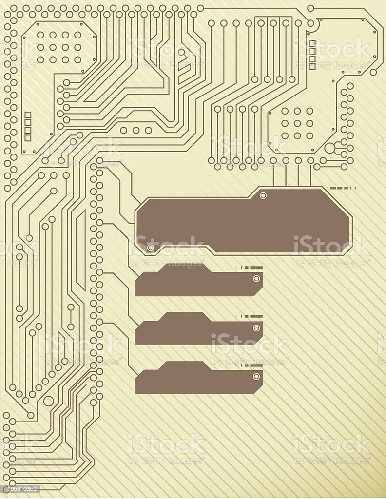 Circuit board abstract background royalty-free stock vector art