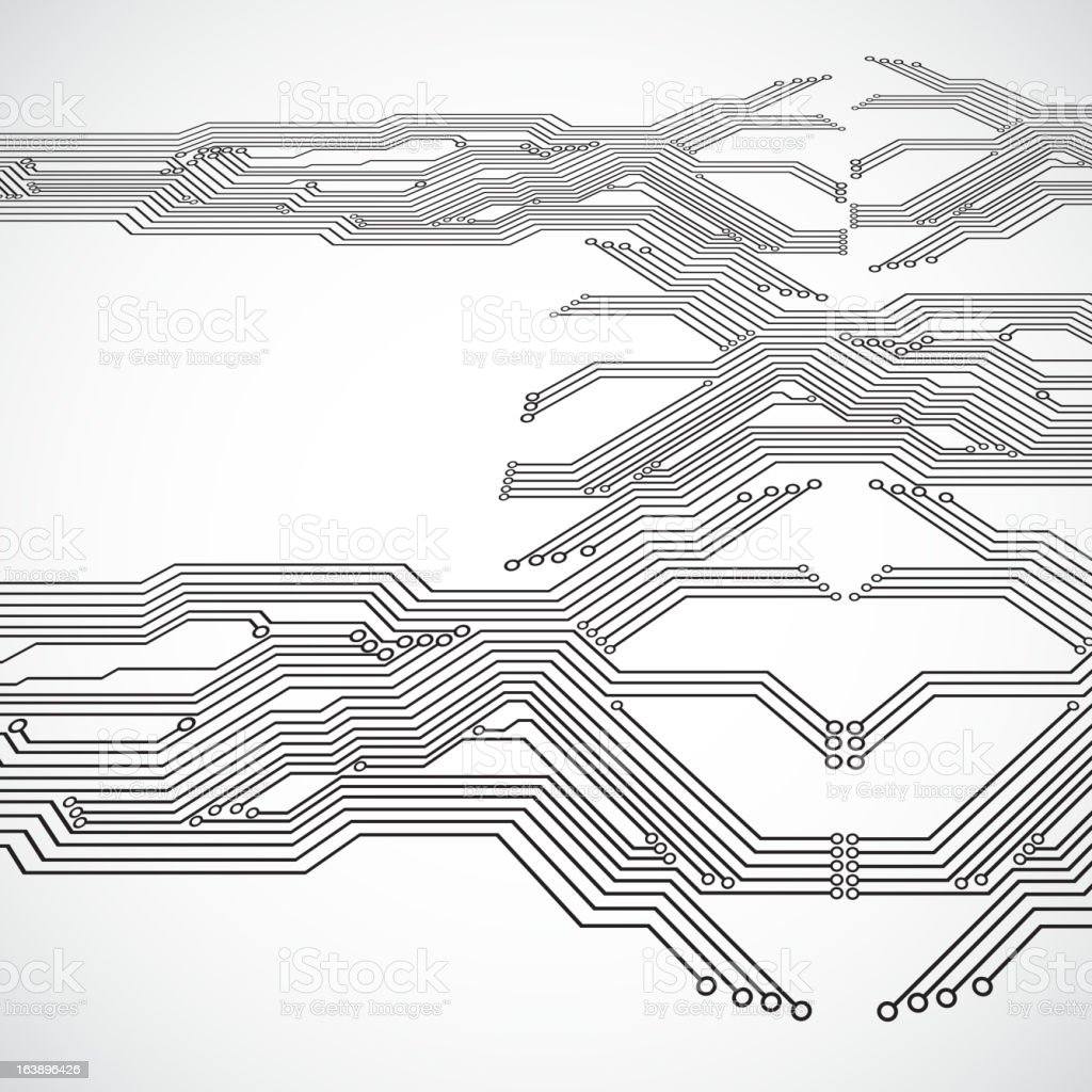 Circuit board background royalty-free stock vector art