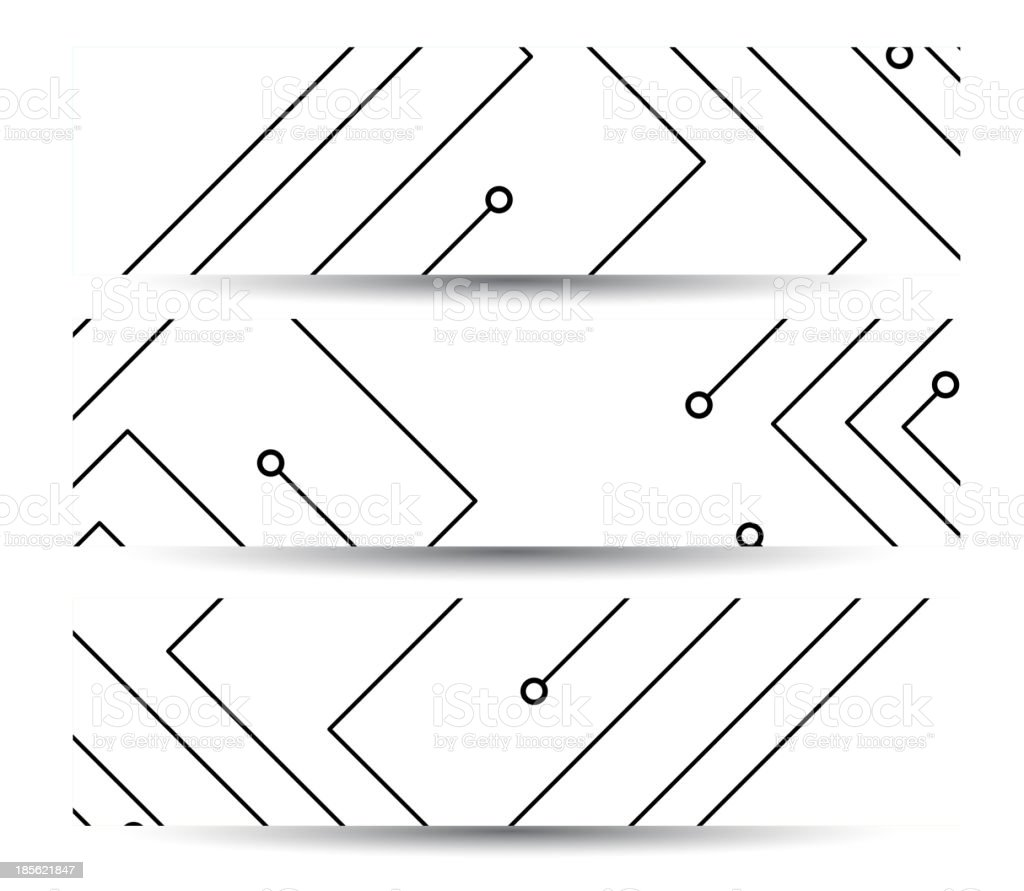 Circuit board banner for your design royalty-free stock vector art
