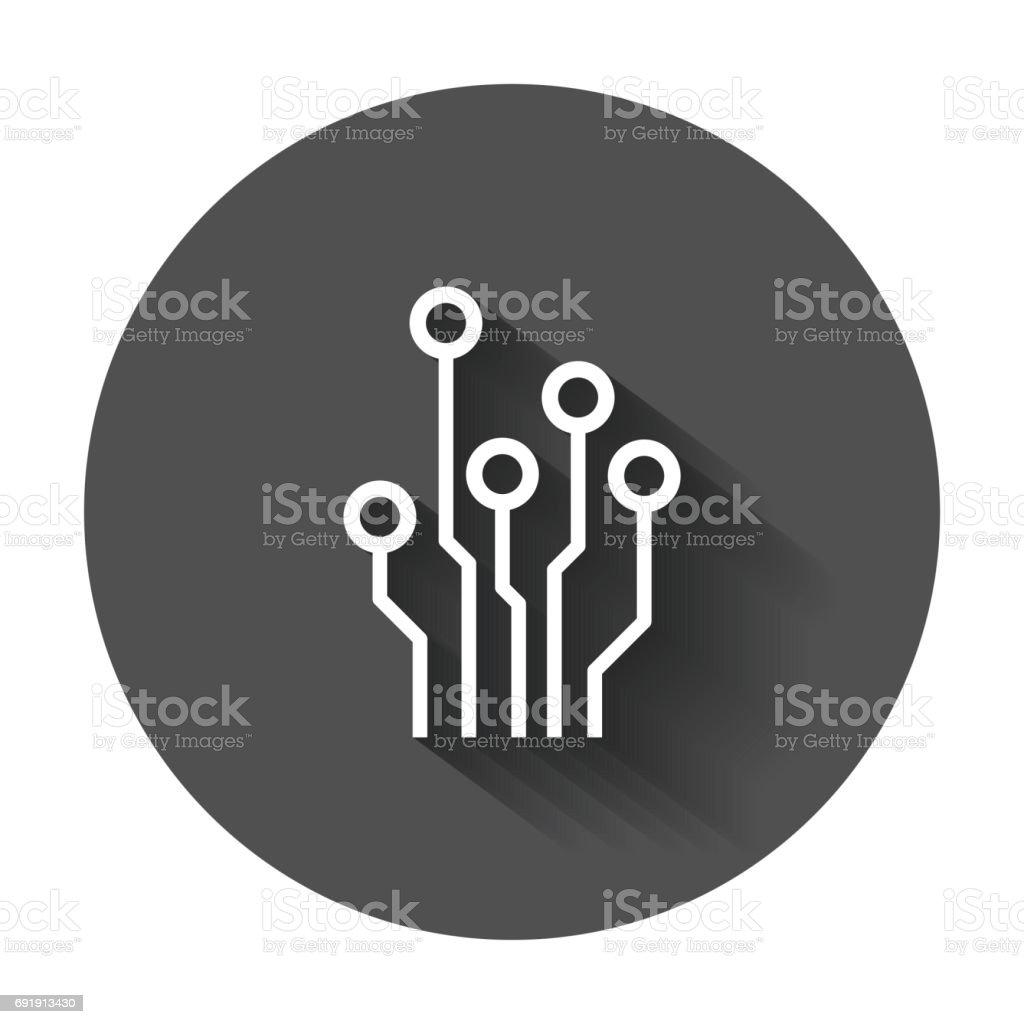 Circuit board icon. vector art illustration