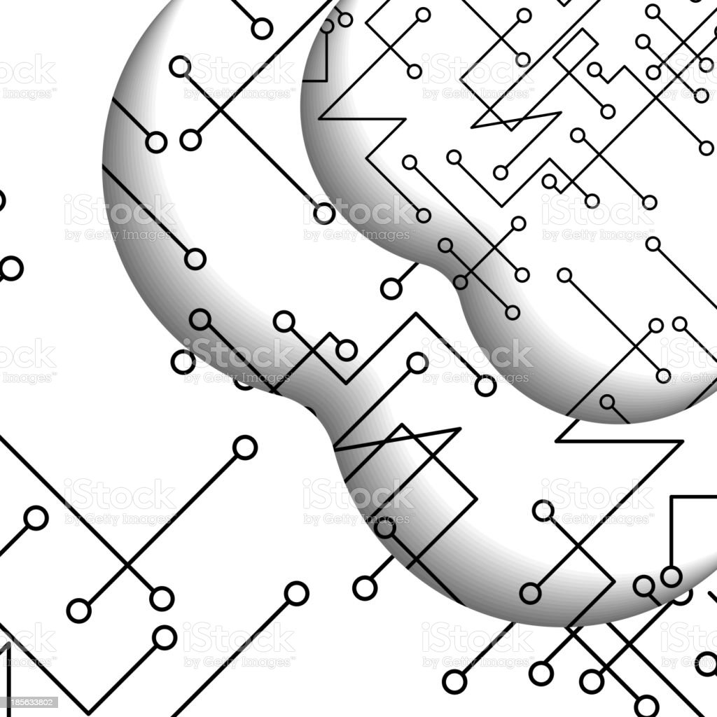 Circuit board illustration royalty-free stock vector art