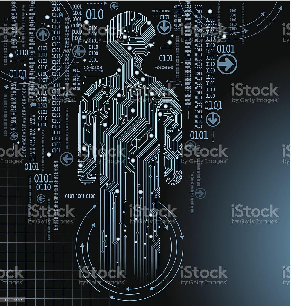 Circuit Board man royalty-free stock vector art