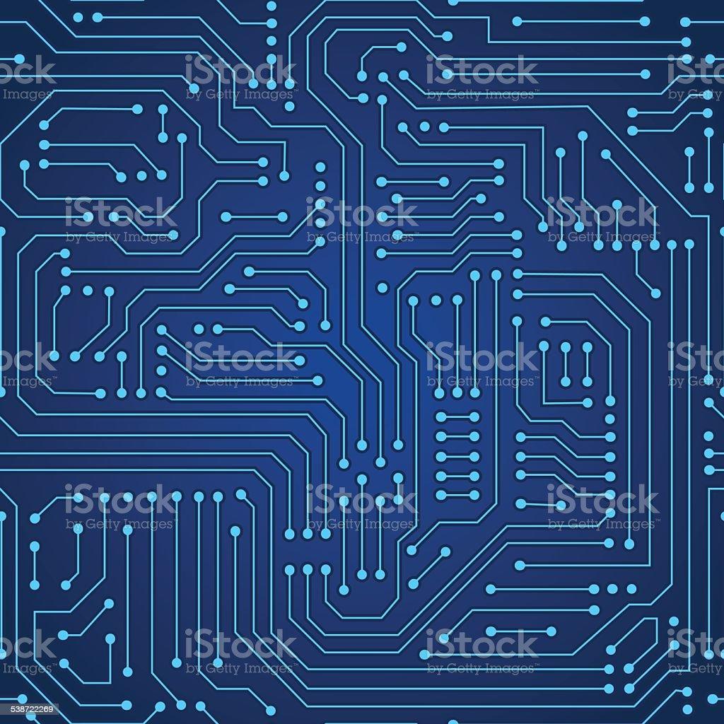 circuit board seamless pattern vector art illustration