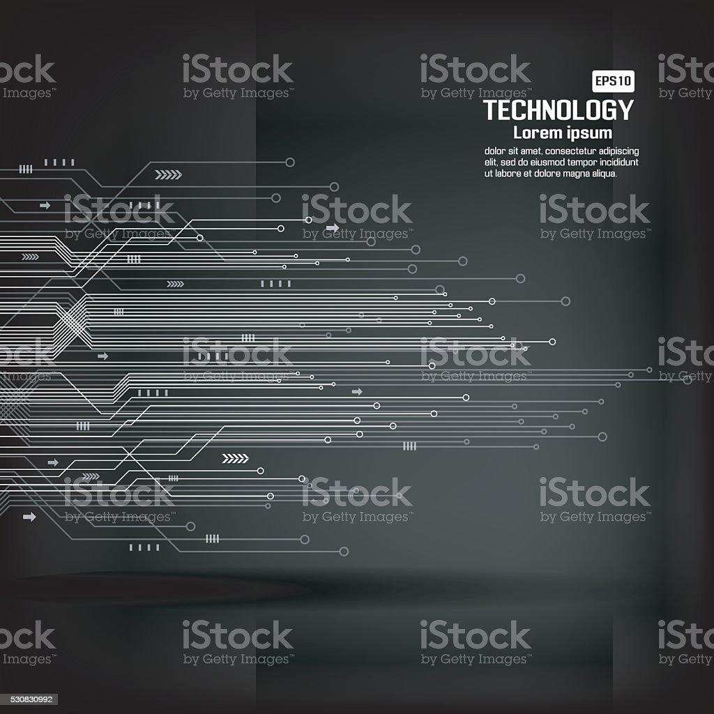 Circuit board technology background vector art illustration